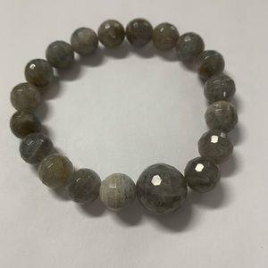 Jewelry - Natural labradorite bead stretch bracelet new